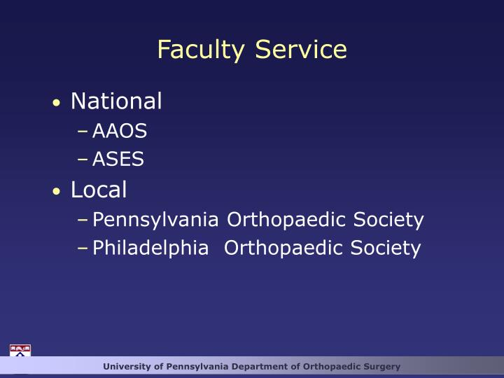 Faculty Service