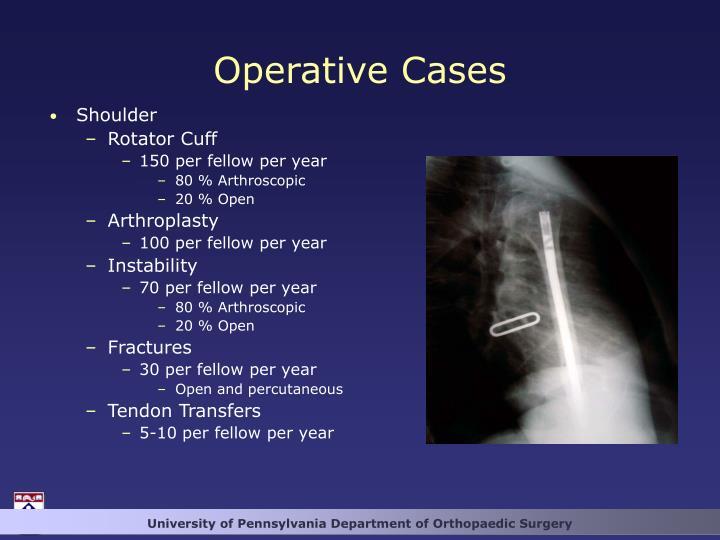 Operative Cases