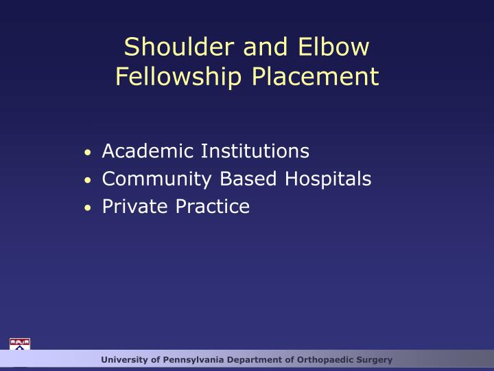 Shoulder and Elbow