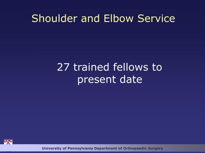 Shoulder and Elbow Service
