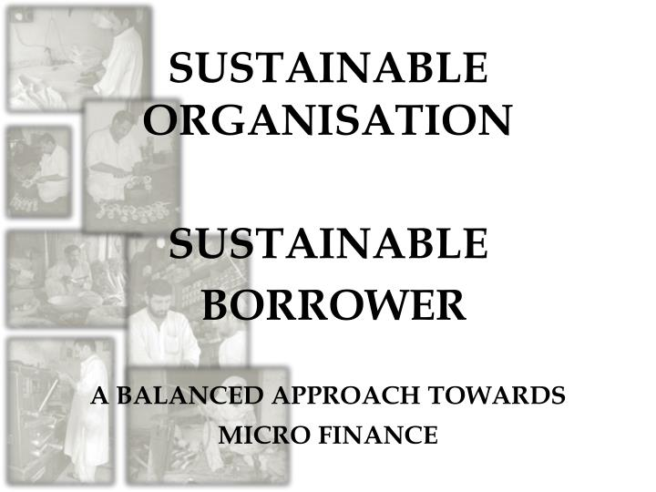 SUSTAINABLE ORGANISATION