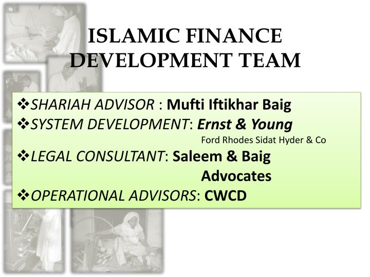 ISLAMIC FINANCE DEVELOPMENT TEAM