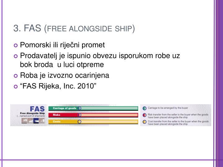 3. FAS (free alongside ship)
