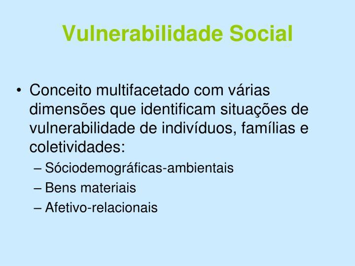 Vulnerabilidade Social