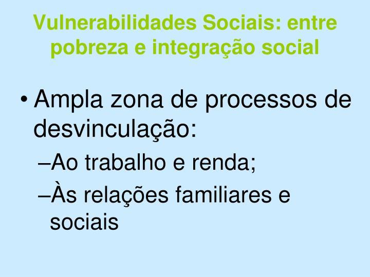Vulnerabilidades Sociais: entre pobreza e integração social