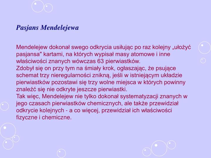 Pasjans Mendelejewa