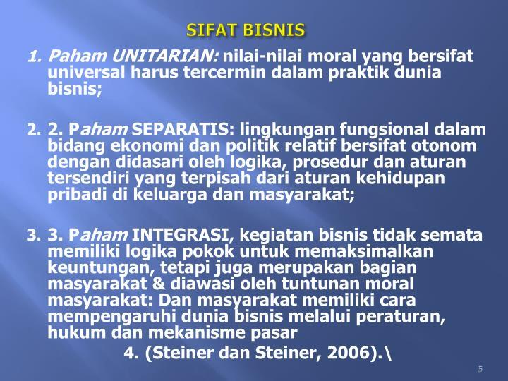 SIFAT BISNIS