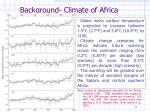 background climate of africa
