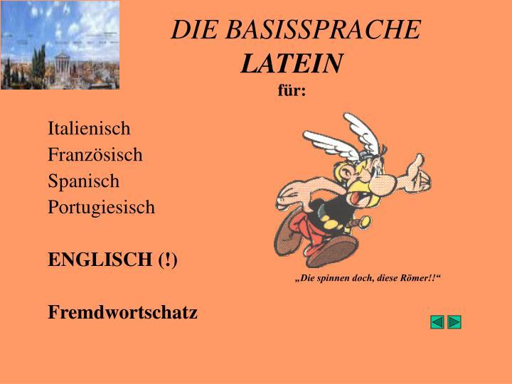 DIE BASISSPRACHE