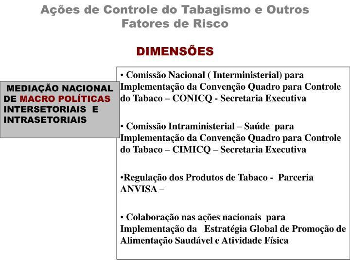 Ações de Controle do Tabagismo e Outros Fatores de Risco