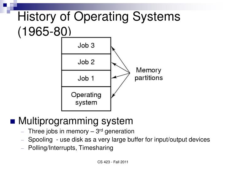 history and development operating systems The understanding windows series begins with a history of windows operating system, investigating the development of windows from a simple ms-dos based.