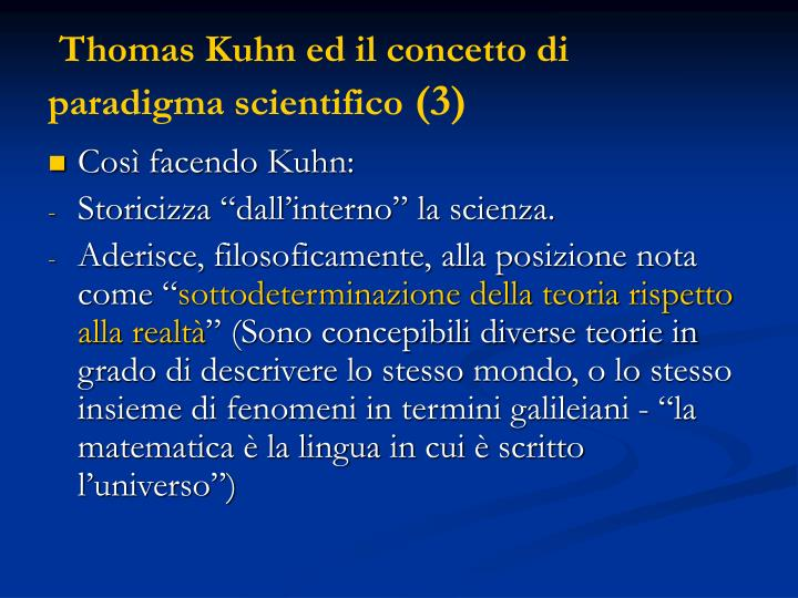 Thomas Kuhn ed il concetto di paradigma scientifico
