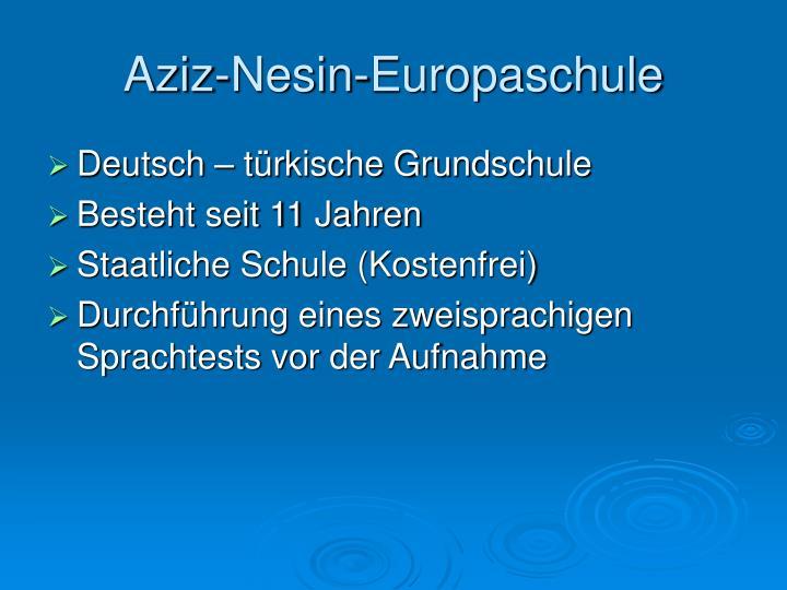 Aziz-Nesin-Europaschule