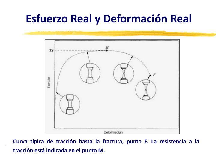 Esfuerzo Real y Deformación Real