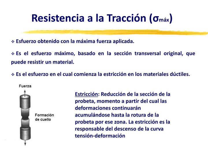 Resistencia a la Tracción (