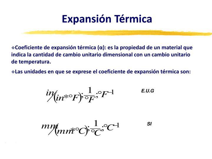 Expansión Térmica