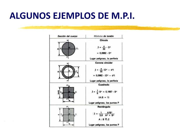 ALGUNOS EJEMPLOS DE M.P.I.