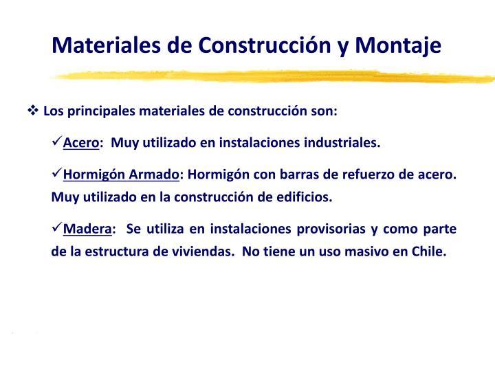 Materiales de Construcción y Montaje