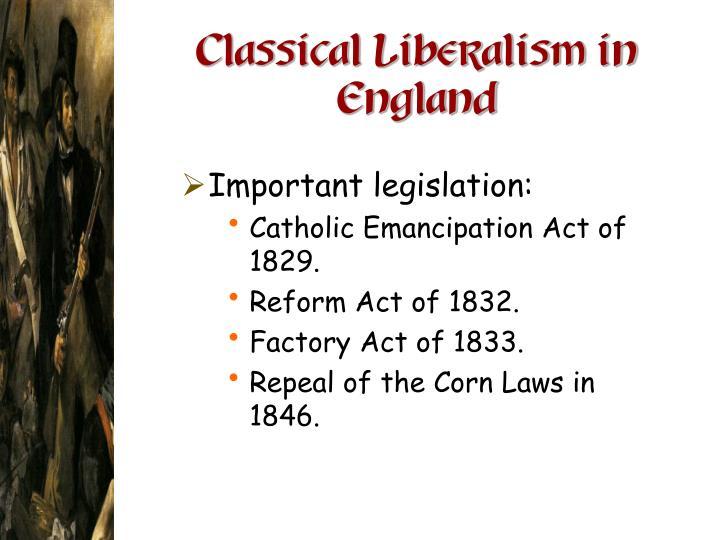 classical liberalism v s reform liberalism on