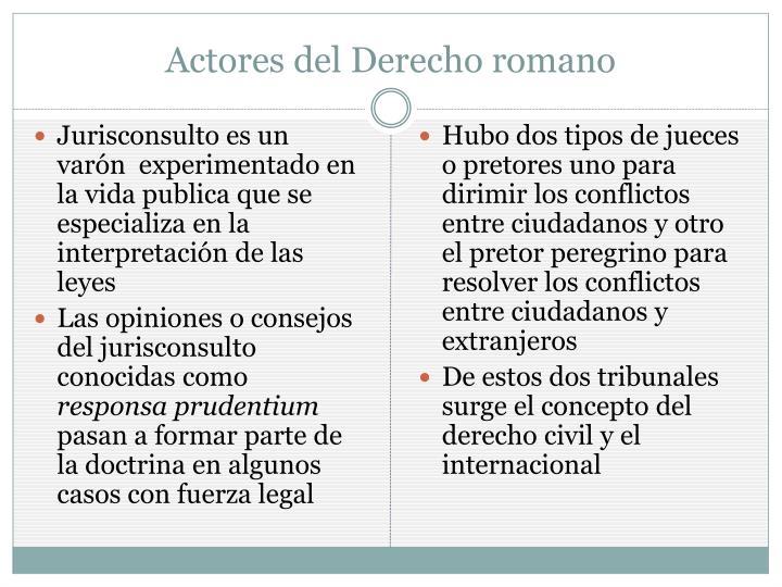 Actores del Derecho romano