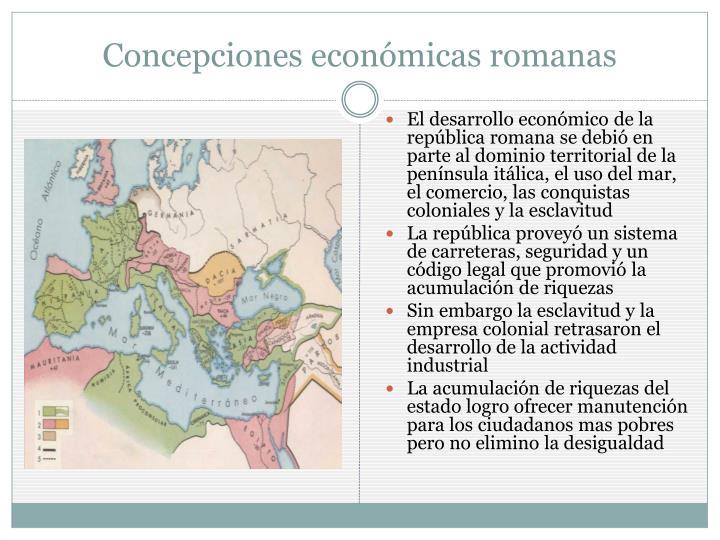 Concepciones económicas romanas