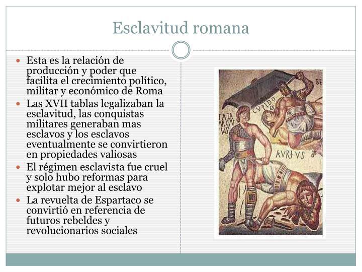 Esclavitud romana