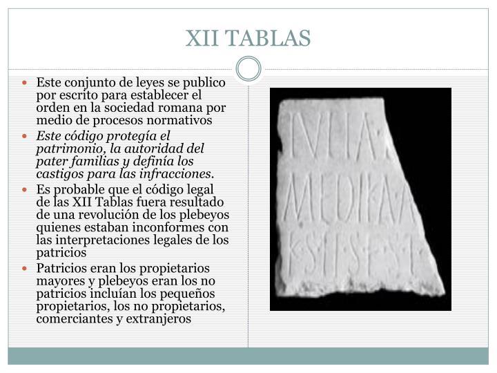 XII TABLAS