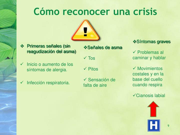 Cómo reconocer una crisis