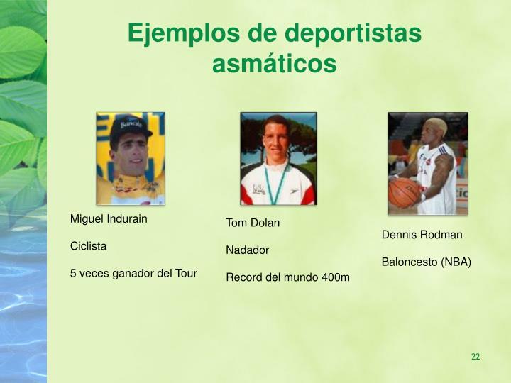 Ejemplos de deportistas asmáticos