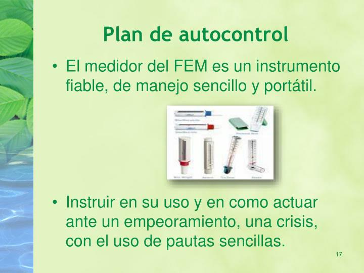 Plan de autocontrol