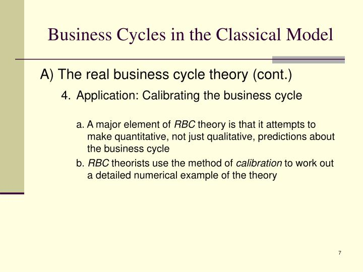 Business Cycles in the Classical Model