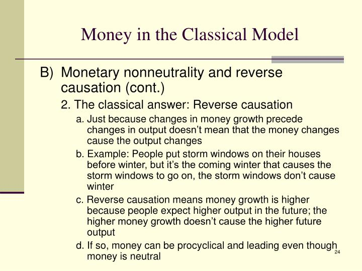 Money in the Classical Model