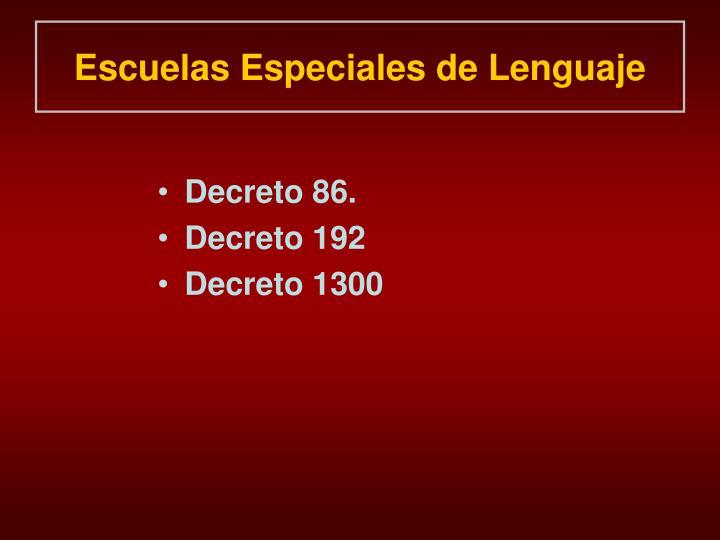 Escuelas Especiales de Lenguaje