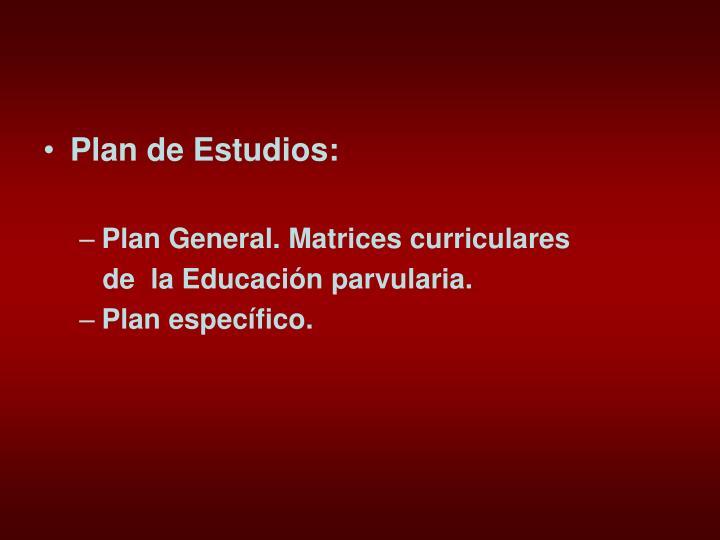 Plan de Estudios: