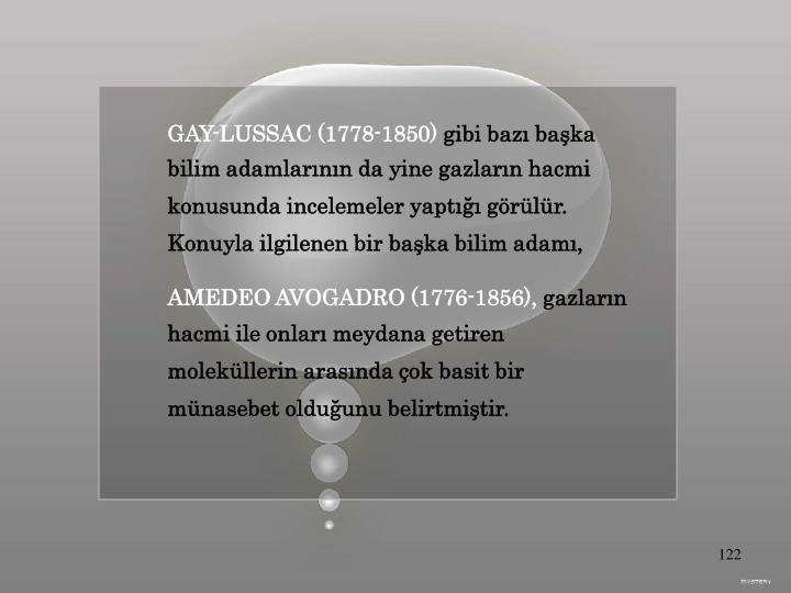 GAY-LUSSAC (1778-1850)