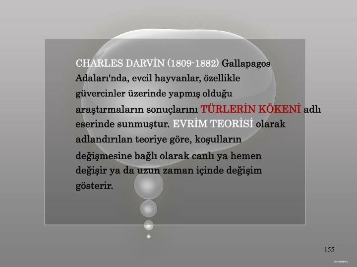 CHARLES DARVİN (1809-1882)