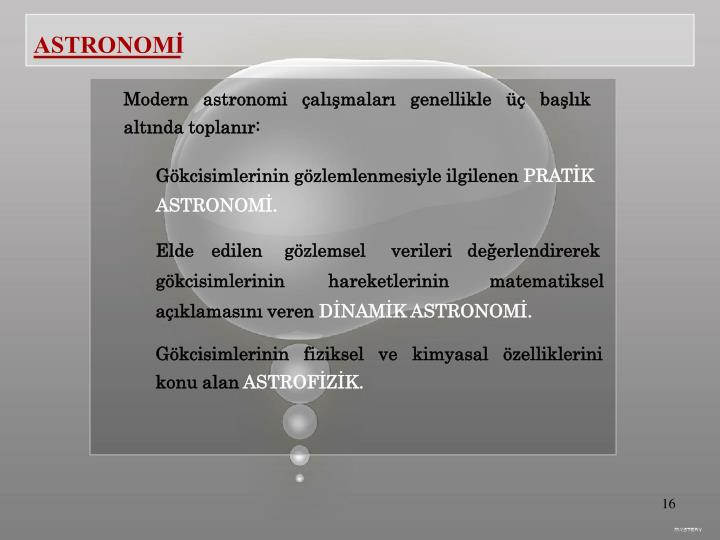 ASTRONOMİ