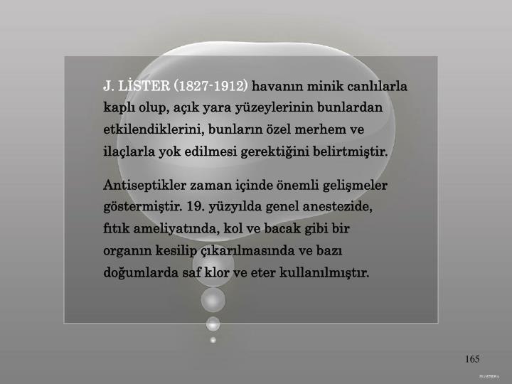 J. LİSTER (1827-1912)
