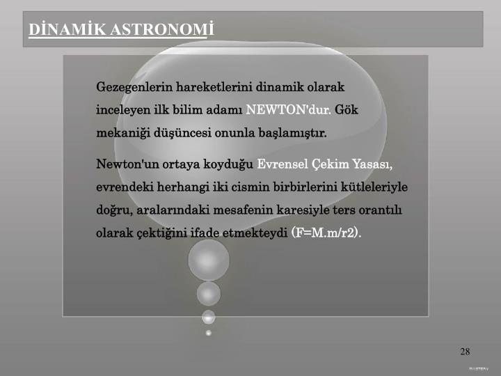 DİNAMİK ASTRONOMİ