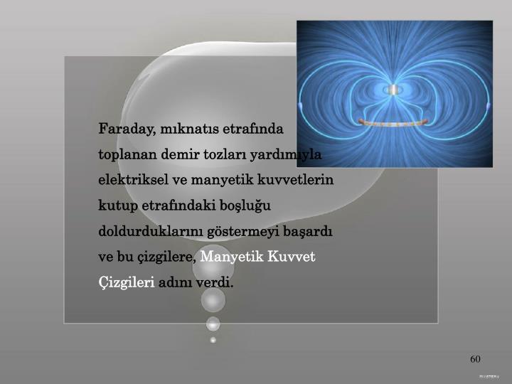 Faraday, mıknatıs etrafında