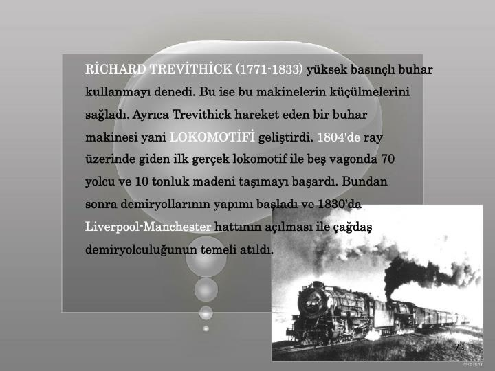 RİCHARD TREVİTHİCK (1771-1833)