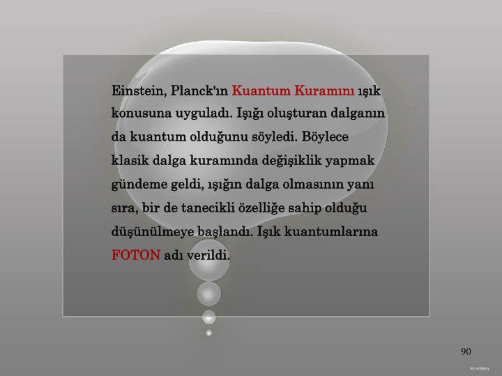 Einstein, Planck'ın