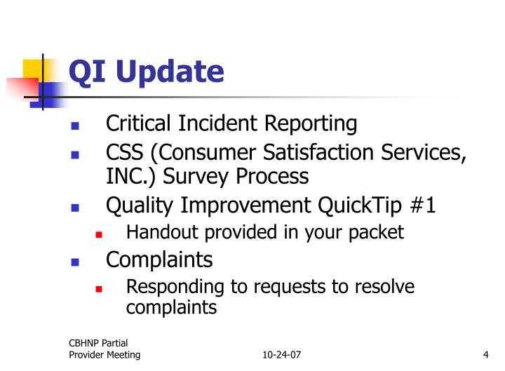 QI Update