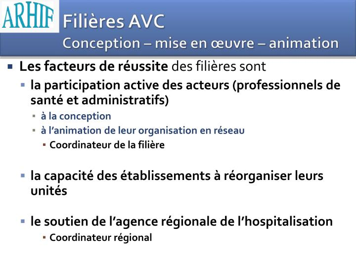 Filières AVC
