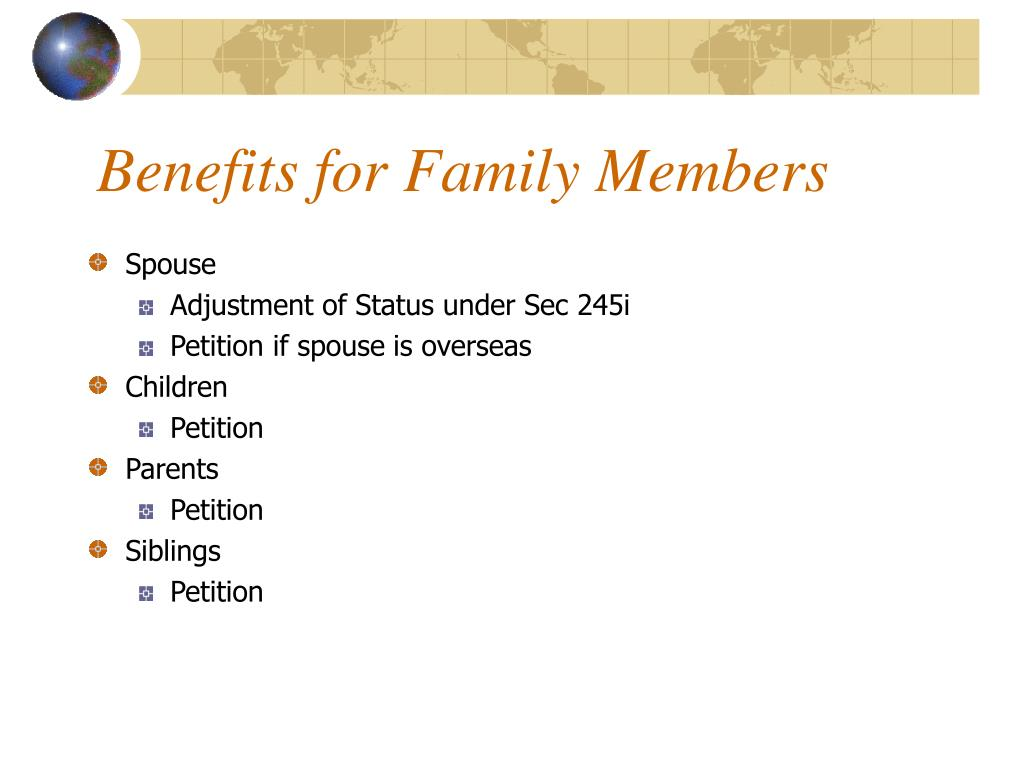 Benefits for Family Members