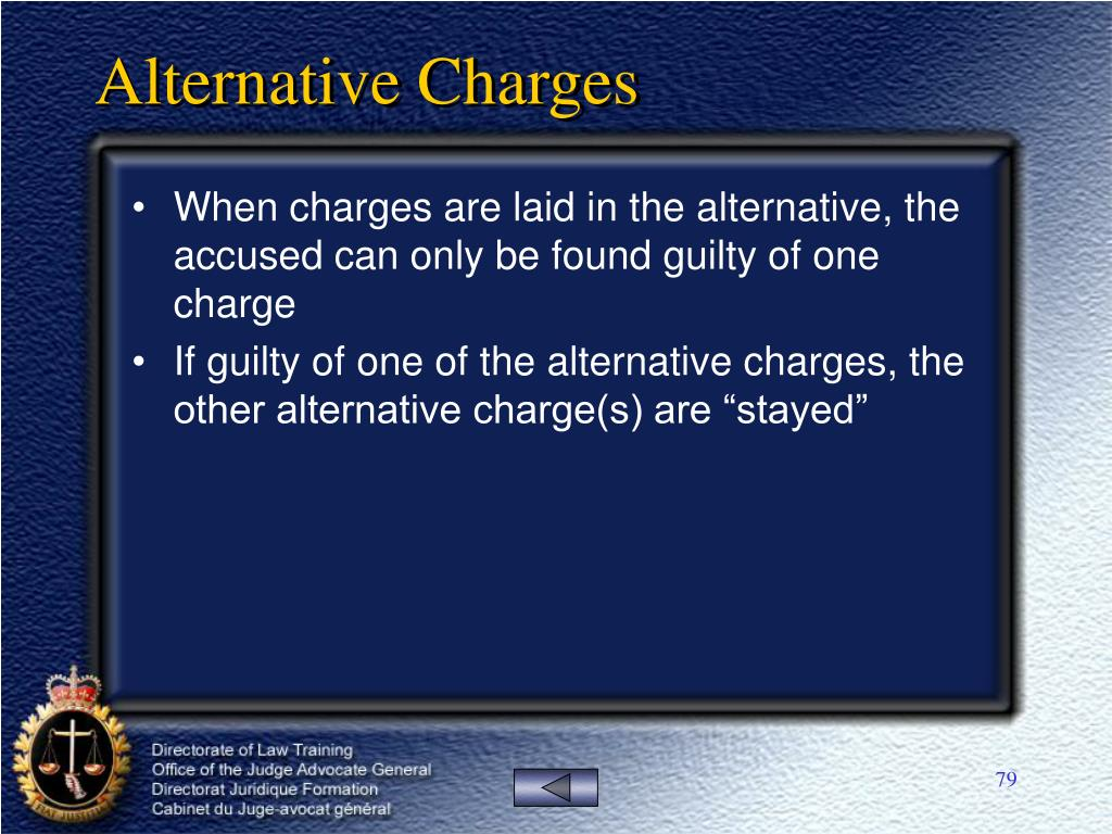 Alternative Charges