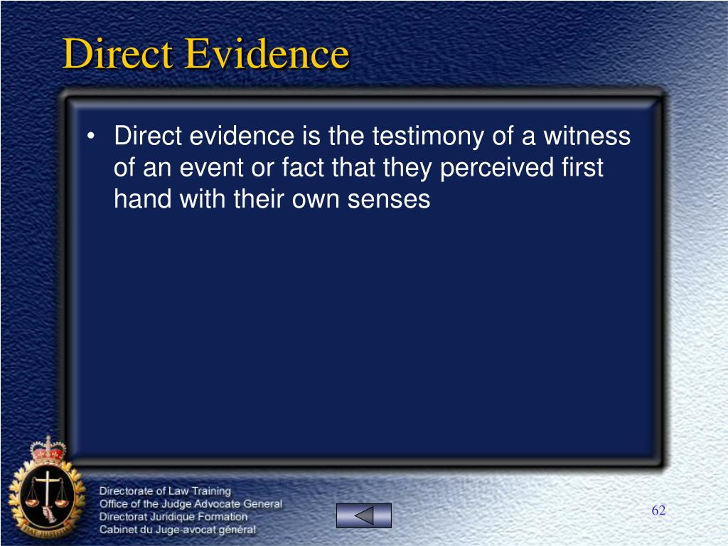 Direct Evidence