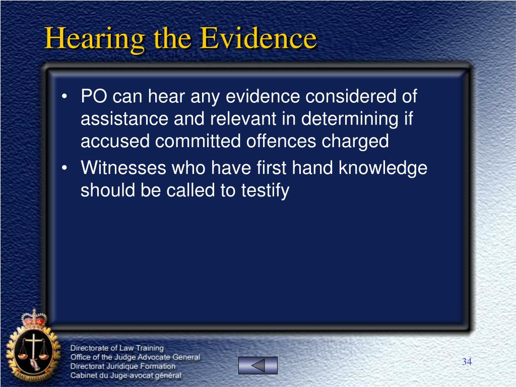 Hearing the Evidence
