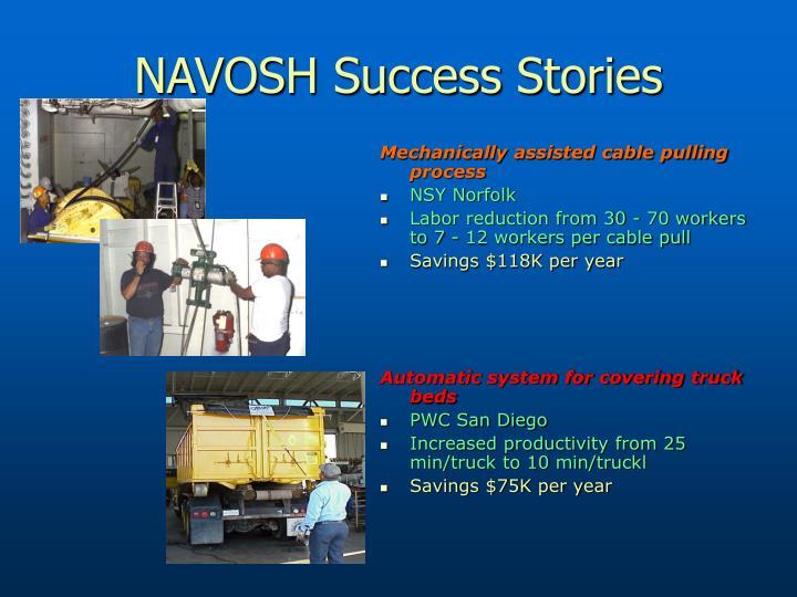 NAVOSH Success Stories