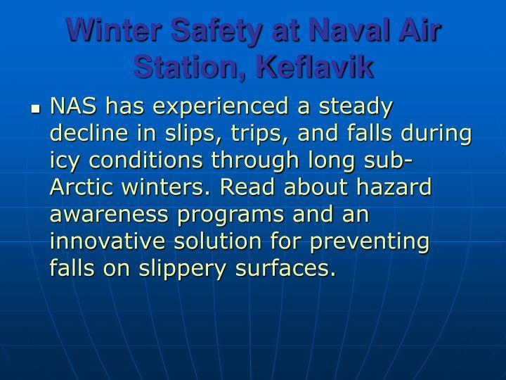 Winter Safety at Naval Air Station, Keflavik